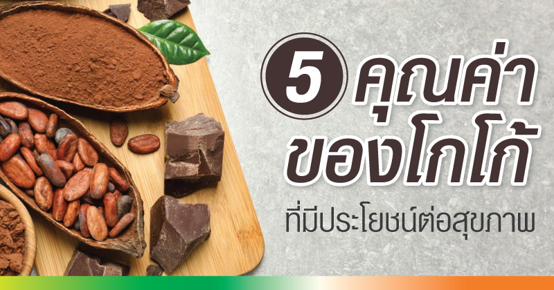 5 คุณค่าของโกโก้ ที่มีประโยชน์ต่อสุขภาพ