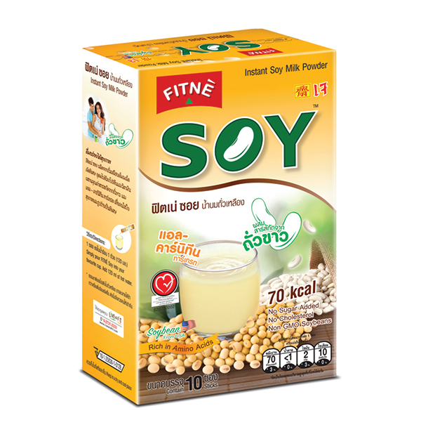 FITNE' Soy Instant Soy Milk Powder Mix With White Kidney Bean Extract 14g.x10 Sticks