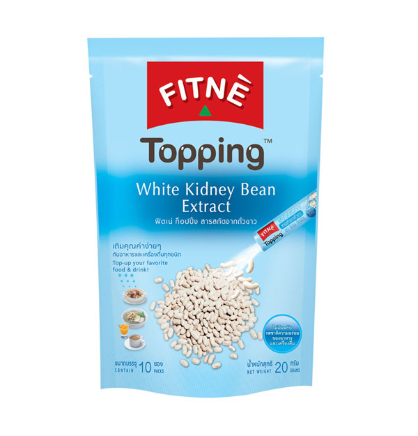 FITNE' Topping White Kidney Bean Extract Dietary Supplement Product 2g.x10 Sticks