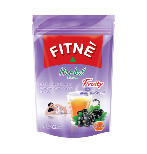 FITNE' Herbal Infusion Tea Black currant Flavored 2.25g.x15 Sachets
