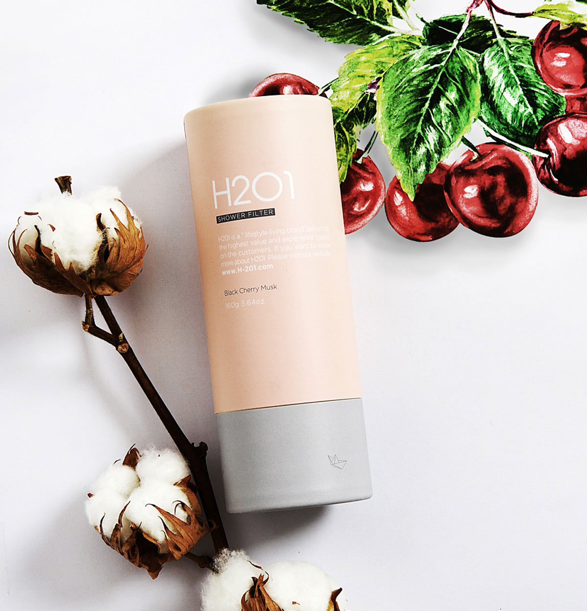 H2O1 Vitamin Shower Filter วิตามินสำหรับอาบน้ำ กลิ่นแบล็คเชอร์รี่มิลล์