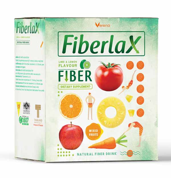 Fiberlax Dietary Supplement Product (Verena), 10 Sachets