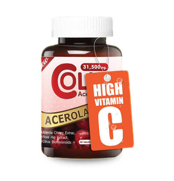 Colly Acerola Cherry 31,500 mg., 45 Capsules