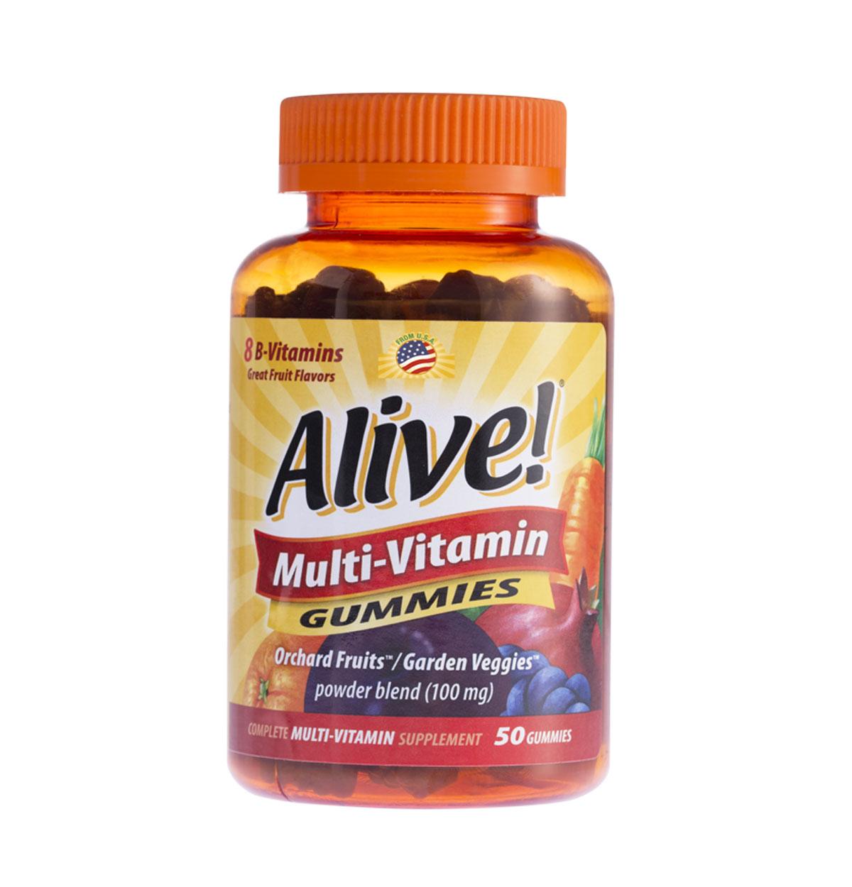 Alive! Adult Multi-Vitamin Gummies ขนาด 50 กัมมี่