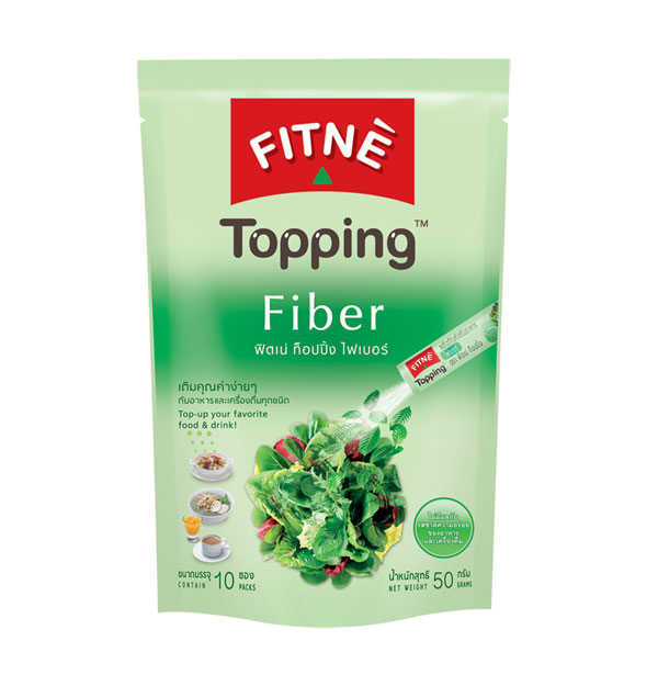 FITNE' Topping Fiber Dietary Supplement Product 5g.x10 Sticks