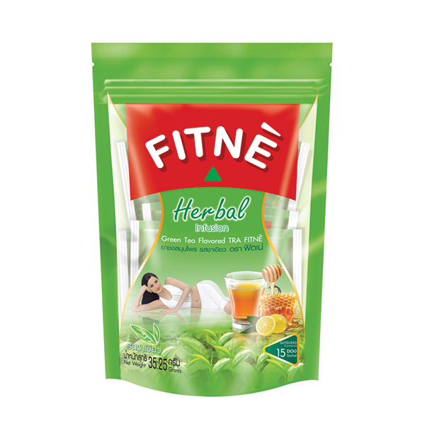 FITNE' Herbal Tea Green Tea Flavored 2.35g.x15 Sachets