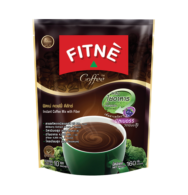 FITNE' Coffee Instant Coffee Mix with Fiber 16g.x10 Sticks