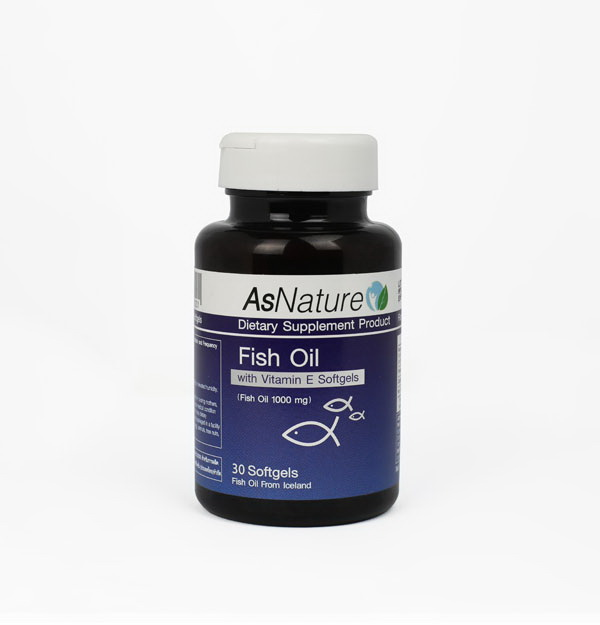 AsNature Fish Oil 1,000 mg.with Vitamin E, 30 Softgels