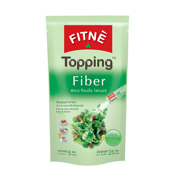 FITNE' Topping Fiber Dietary Supplement Product 5g.x5 Sticks