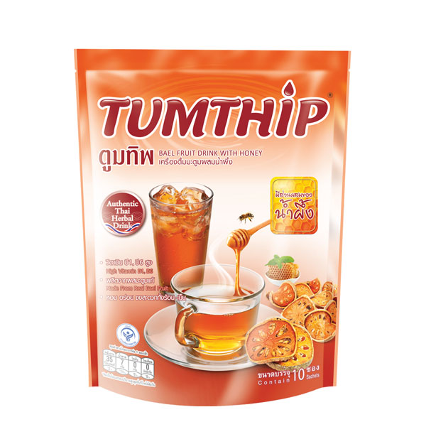 TUMTHIP Instant Bael Fruit Drink with Honey 9 g.x10 Sticks