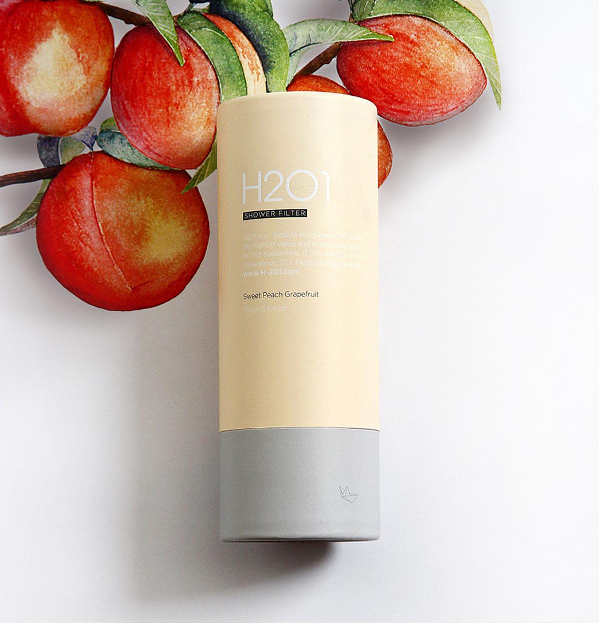H2O1 Vitamin Shower Filter วิตามินสำหรับอาบน้ำ กลิ่นสวีทพีชเกรปฟรุ๊ต